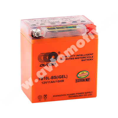 Мото аккумулятор 10Ah OUTDO YB10L-BS iGEL (11Ah) фото 400x400