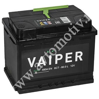 Автомобильный аккумулятор VAIPER 60.1 фото 340x340