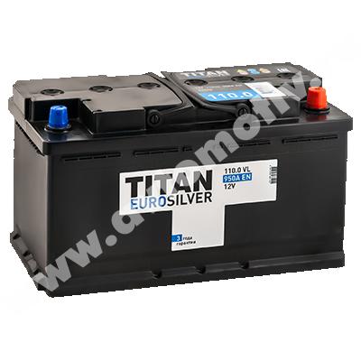 Автомобильный аккумулятор Titan EUROSILVER 110.0 фото 400x400
