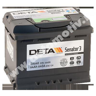 Автомобильный аккумулятор DETA Senator 64.0 фото 400x400