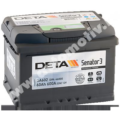 Автомобильный аккумулятор DETA Senator 60.0 фото 400x400