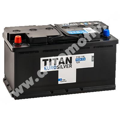 Автомобильный аккумулятор Titan EUROSILVER 110.1 фото 400x400