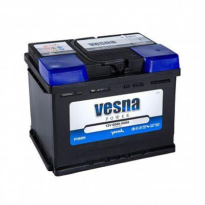 Автомобильный аккумулятор VESNA Power 60.1 L2 фото 401x401