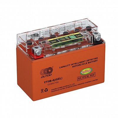 Мото аккумулятор 8Ah OUTDO YT9B-4 iGEL фото 401x401