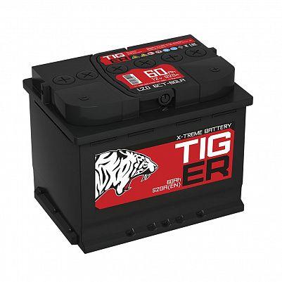 Автомобильный аккумулятор Tiger X-treme (Тюмень) 60.0 обр фото 401x401