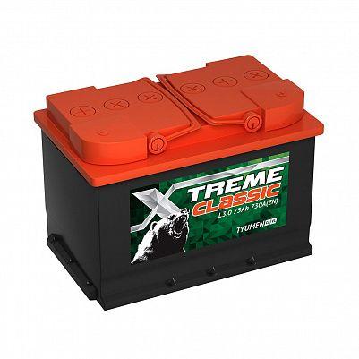 Автомобильный аккумулятор X-treme CLASSIC (Тюмень) 75.0 фото 401x401