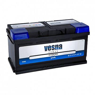 Автомобильный аккумулятор VESNA Power 92.0 LB5 фото 401x401
