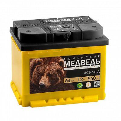 Автомобильный аккумулятор Тюменский Медведь 64.0 фото 401x401