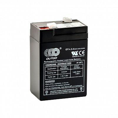 Аккумулятор OUTDO VRLA 6v  4.5Ah (OT4.5-6) фото 401x401