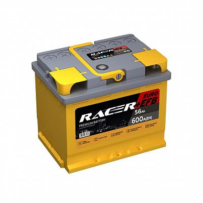 Автомобильный аккумулятор RACER+EFB 56.0 фото 401x401