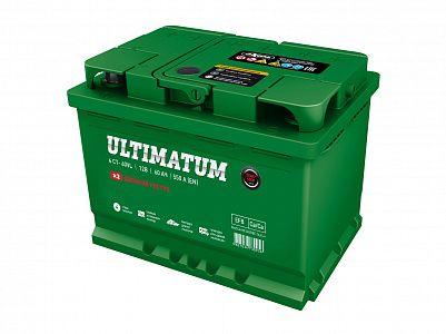 Автомобильный аккумулятор Ultimatum EFB 60.0 фото 401x300