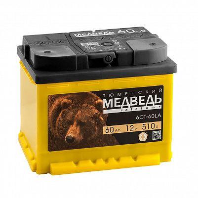 Автомобильный аккумулятор Тюменский Медведь 60.0 фото 401x401