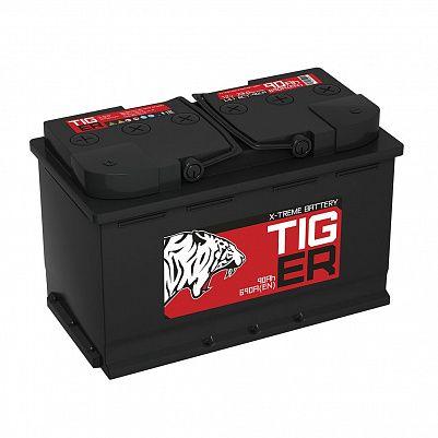 Автомобильный аккумулятор Tiger X-treme (Тюмень) 90.1 пр фото 401x401