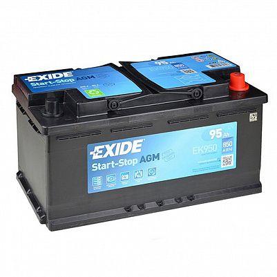 Автомобильный аккумулятор Exide Start&Stop AGM 95.0 (EK950) фото 401x401