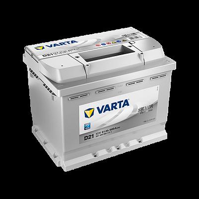 Автомобильный аккумулятор Varta D21 Silver Dynamic (561 400 060) 12v 61Ah 600A низкий фото 401x401
