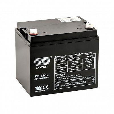Аккумулятор OUTDO VRLA 12v  33Ah (OT33-12) фото 401x401