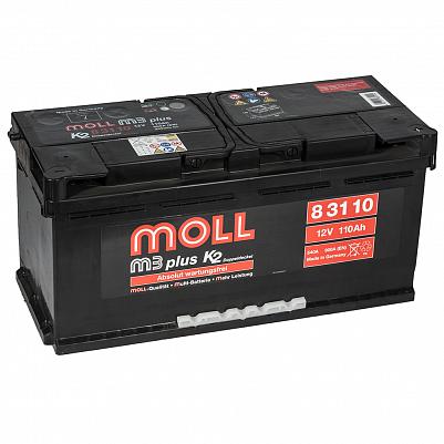 Автомобильный аккумулятор MOLL M3 plus 110.0 фото 401x401
