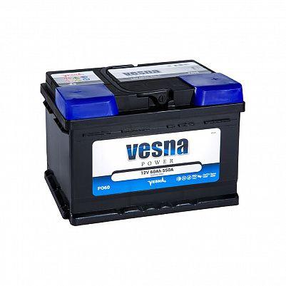 Автомобильный аккумулятор VESNA Power 60.0 LB2 фото 401x401