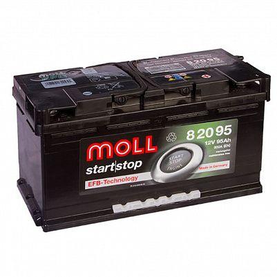 Автомобильный аккумулятор MOLL EFB 95.0 фото 401x401