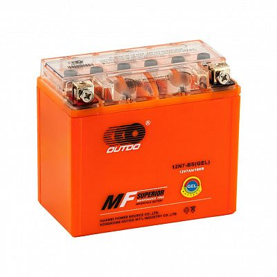 Мото аккумулятор 7Ah OUTDO 12N7-BS GEL (8Ah) фото 401x401