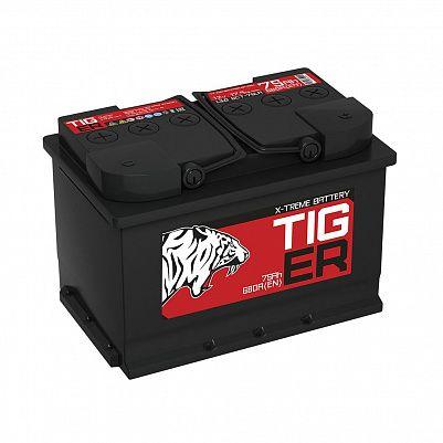 Автомобильный аккумулятор Tiger X-treme (Тюмень) 75.0 обр фото 401x401