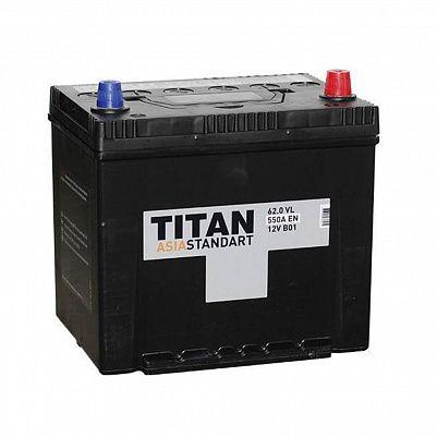 Автомобильный аккумулятор Titan Asia Standart 62.0 (D23L) фото 401x401