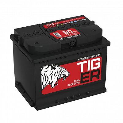 Автомобильный аккумулятор Tiger X-treme (Тюмень) 60.1 пр фото 401x401
