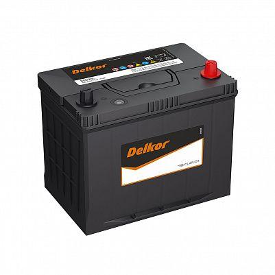 Автомобильный аккумулятор DELKOR 80D26L (75) обр фото 401x401