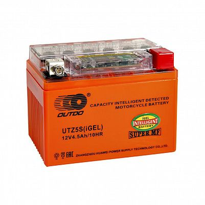 Мото аккумулятор 4,5Ah OUTDO YTZ5S iGEL фото 401x401