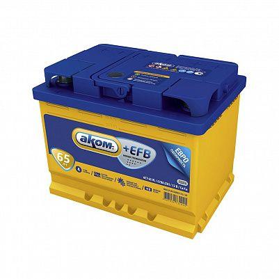 Автомобильный аккумулятор Аком + EFB 65.0 фото 401x401