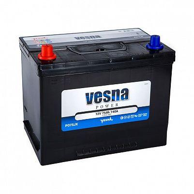 Автомобильный аккумулятор VESNA Power 75 (D26R) фото 401x401