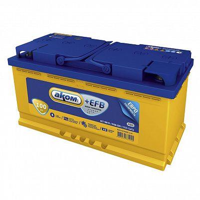 Автомобильный аккумулятор Аком + EFB 100.1 фото 401x401