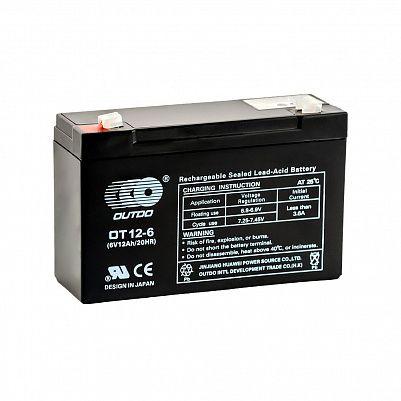 Аккумулятор OUTDO VRLA 6v  12Ah (OT12-6) фото 401x401