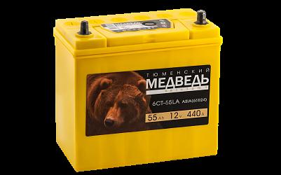 Автомобильный аккумулятор Тюменский Медведь  65В24L (55) фото 401x250