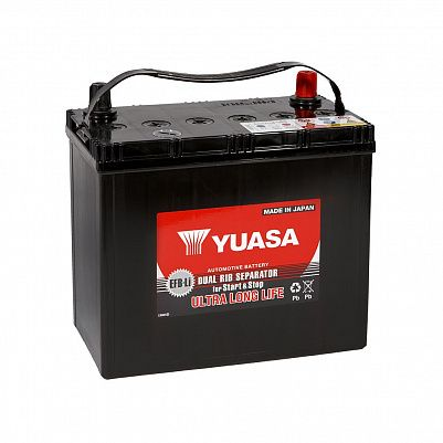 Автомобильный аккумулятор YUASA EFB 75B24R 50Ah фото 401x401