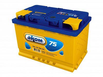 Автомобильный аккумулятор Аком 75.0 фото 401x300