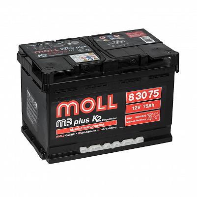 Автомобильный аккумулятор MOLL M3 plus 75.0 фото 401x401