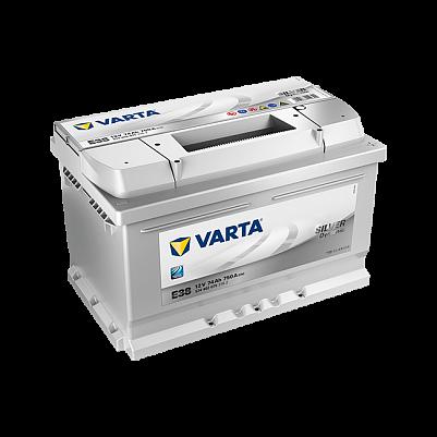 Varta E38 Silver Dynamic (574 402 075) 74Ah низкий фото 401x401