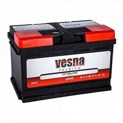 Автомобильный аккумулятор VESNA Premium 75.0 L3 фото 401x401