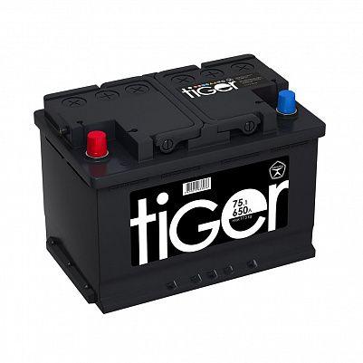 Автомобильный аккумулятор Tiger Аком 75.1 пр. фото 401x401