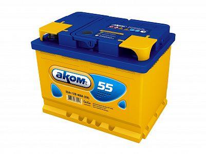 Автомобильный аккумулятор Аком 55.1 фото 401x300