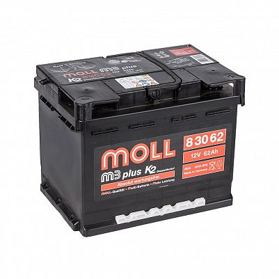Автомобильный аккумулятор MOLL M3 plus 62.0 фото 401x401