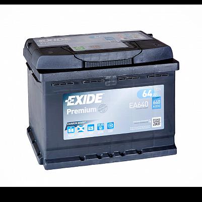 Автомобильный аккумулятор Exide Premium 64.0 (EA640) фото 401x401