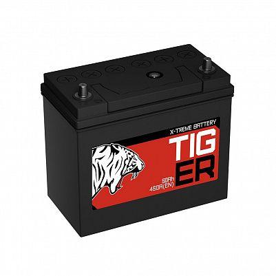 Автомобильный аккумулятор Tiger X-treme (Тюмень) 60B24L (50) обр фото 401x401
