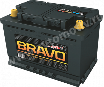 Автомобильный аккумулятор Bravo 74.0 фото 401x338