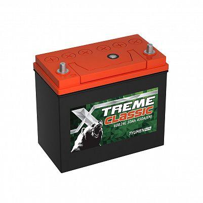 Автомобильный аккумулятор X-treme CLASSIC (Тюмень) 60B24L 50 Ач фото 401x401