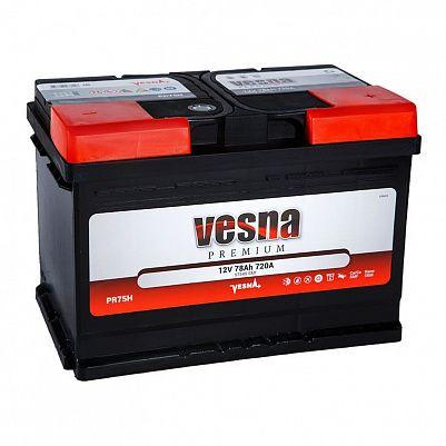 Автомобильный аккумулятор VESNA Premium 75.0 LB3 фото 401x401