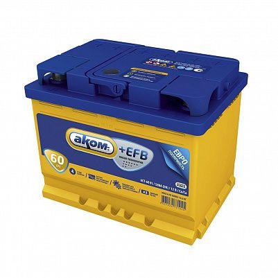 Автомобильный аккумулятор Аком + EFB 60.1 фото 401x401