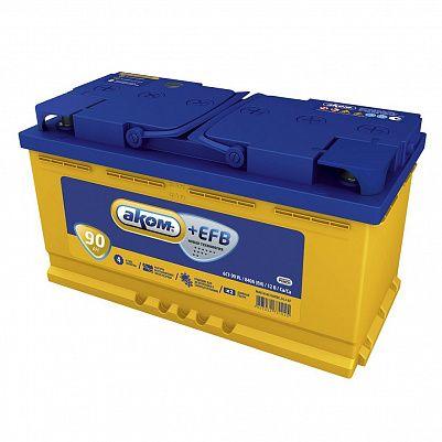 Автомобильный аккумулятор Аком + EFB 90.0 фото 401x401
