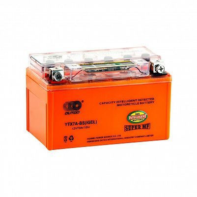 Мото аккумулятор 7Ah OUTDO UTX7A(YTX7A)-BS iGEL фото 401x401